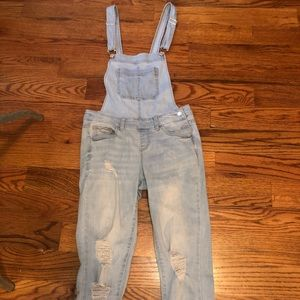 Forever 21 distressed overalls!